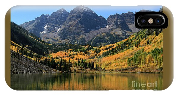 Maroon Bells In Fall IPhone Case