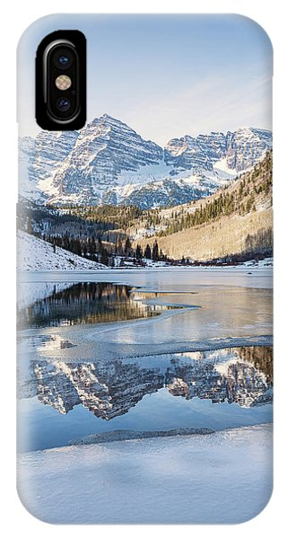 Maroon Bells Reflection Winter IPhone Case