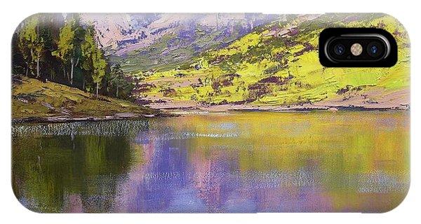 Rocky Mountain iPhone Case - Maroon Bells Reflections by Graham Gercken