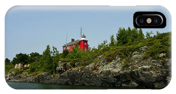Marquette Michigan Lighthouse IPhone Case