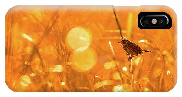 IPhone Case featuring the photograph Marsh Sparrow by Francisco Gomez