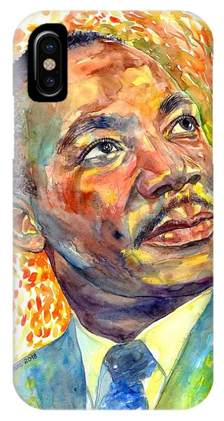 Nobel iPhone Case - Martin Luther King Jr Portrait by Suzann Sines