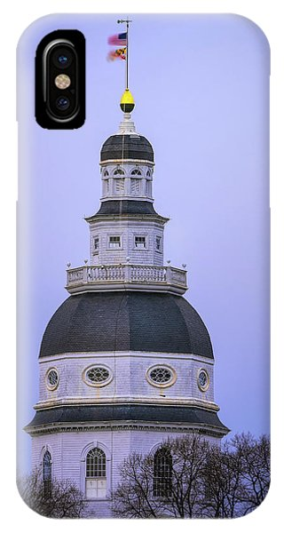 Naval Academy iPhone Case - Maryland State House by Robert Fawcett