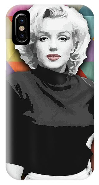 IPhone Case featuring the painting Marylin Monroe Diamonds by Carla Bank