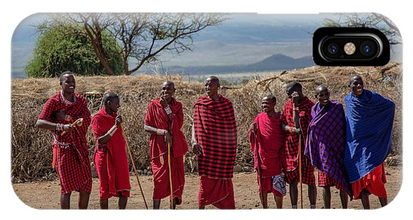 Maasai Men IPhone Case