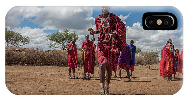 IPhone Case featuring the photograph Maasai Welcome by Thomas Kallmeyer