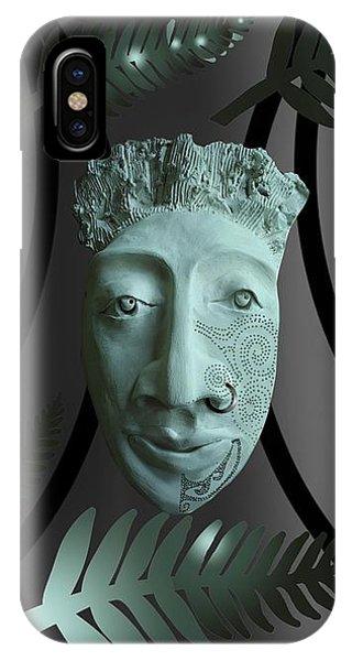 Mask The Maori Warrior IPhone Case