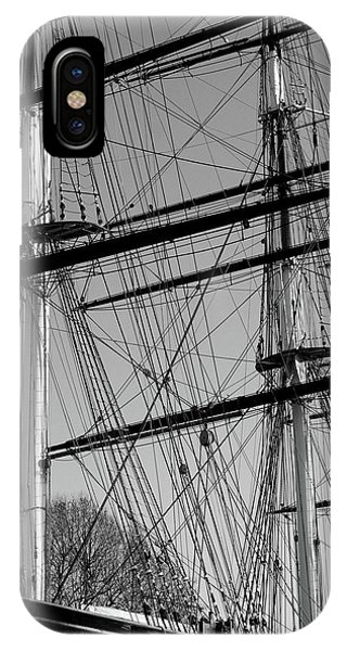 Masts And Rigging Of The Cutty Sark IPhone Case
