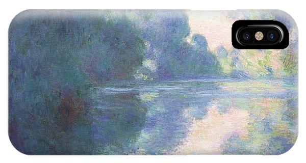 Violet iPhone Case - Matinee Sur La Seine, 1897 by Claude Monet