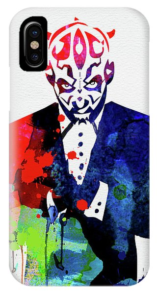 Film iPhone Case - Maul In A Suite Watercolor by Naxart Studio