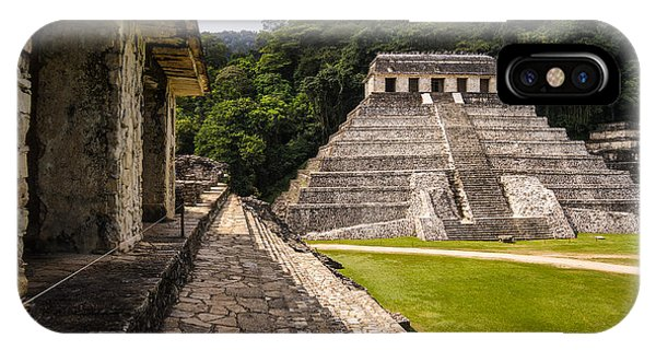 Old Building iPhone Case - Mayan Ruins In Palenque, Chiapas by Photoshooter2015