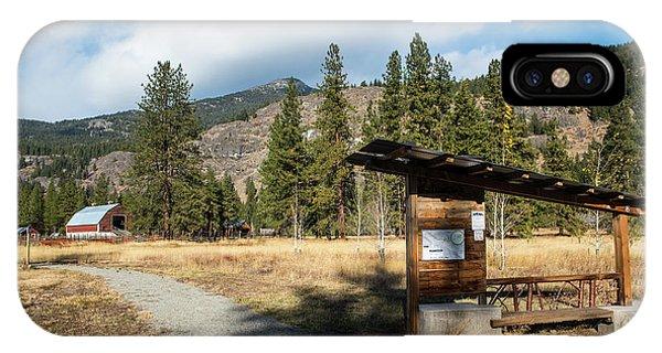 Mazama Barn Trail And Bench IPhone Case
