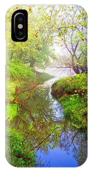 iPhone Case - Meandering Through The Forest Glen by Debra and Dave Vanderlaan