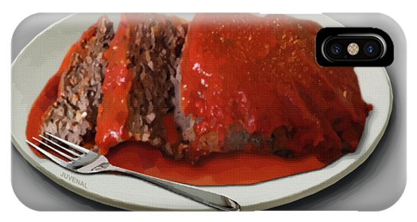 Fashion Plate iPhone Case - Meatloaf by Joseph Juvenal