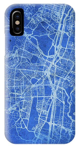 Colombian iPhone Case - Medellin Colombia City Street Map Blueprints by Design Turnpike