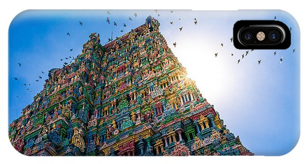 Kerala iPhone Case - Meenakshi Hindu Temple In Madurai by Val Shevchenko