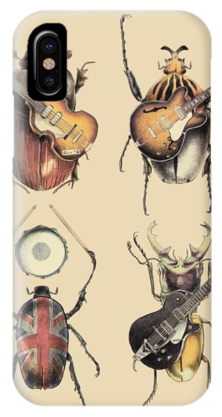 Insect iPhone Case - Meet The Beetles by Eric Fan