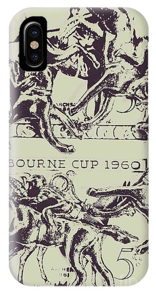 Horseman iPhone Case - Melbourne Cup 1960 by Jorgo Photography - Wall Art Gallery