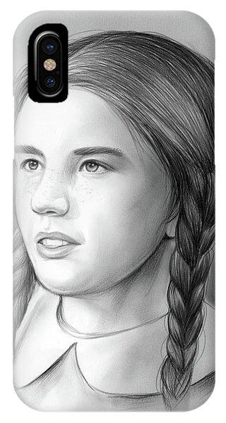 Graphite iPhone Case - Melissa Gilbert by Greg Joens