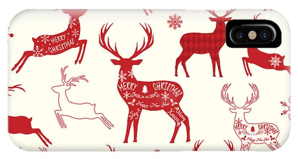 Merry Christmas Reindeer,reindeer Phone Case by Alexaz