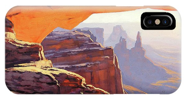 Arched iPhone Case - Mesa Arch Sunrise by Graham Gercken