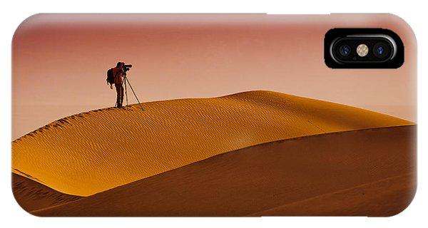 Death Valley iPhone Case - Mesquite Flat Dunes At Death Vakkey by Gleb Tarro