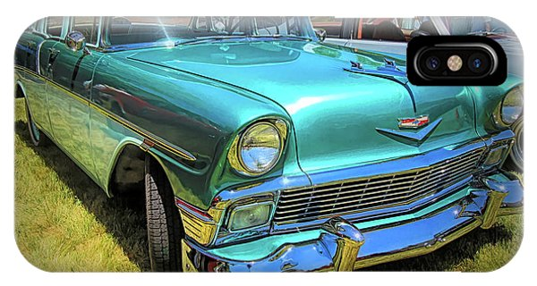 Metallic Green 1956 Chevy Sedan IPhone Case