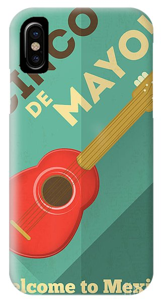 Vector iPhone Case - Mexican Guitar. Posters In Retro Style by Vector Posters And Cards