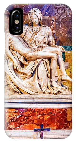 iPhone Case - Michelangelo Pieta Mary And Jesus by William Perry