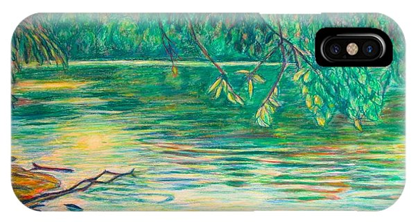 IPhone Case featuring the painting Mid-spring On The New River by Kendall Kessler