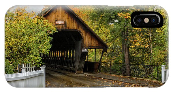 IPhone Case featuring the photograph Middle Covered Bridge - Woodstock Vermont by Expressive Landscapes Fine Art Photography by Thom