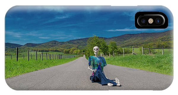 Human Interest iPhone Case - Middle Of The Road by Betsy Knapp