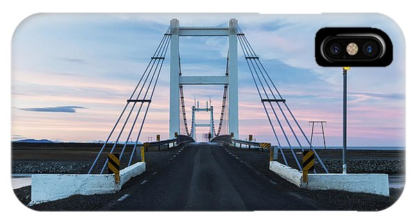 Spring Mountains iPhone Case - Midnight Photo Of The Bridge With The by Nadezda Murmakova