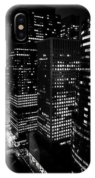 Midtown Manhattan, Nyc, Clear Winter Night Phone Case by JMerrickMedia