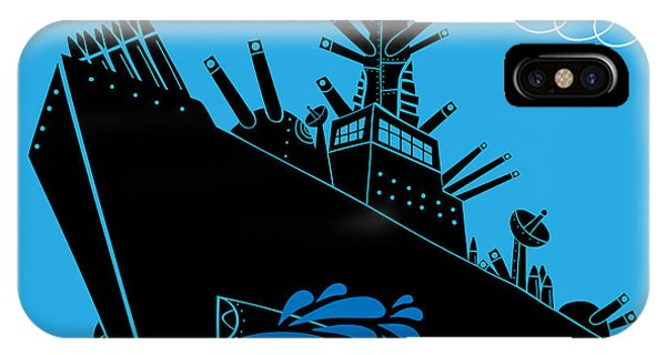 Strength iPhone Case - Military Ship With Guns by Complot