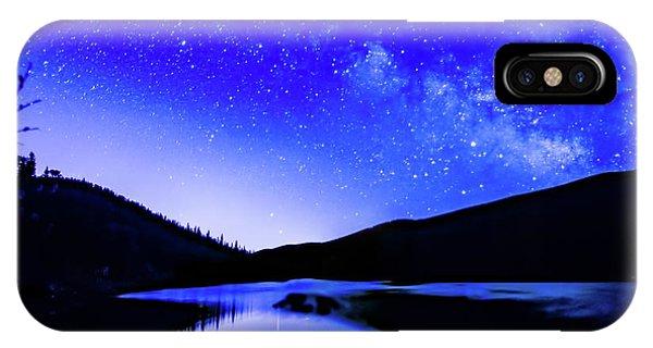Milky Way Over Springtime Echo Lake IPhone Case