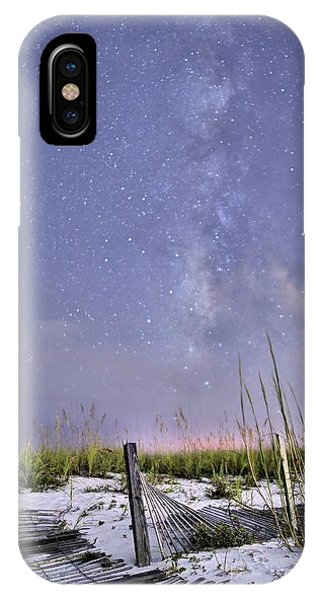 Milky Way Over The Beach IPhone Case