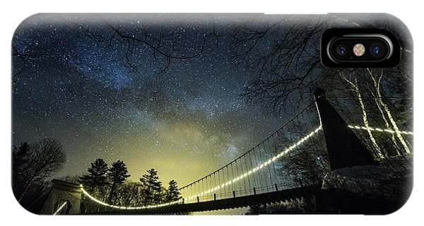 Milky Way Over The Wire Bridge IPhone Case