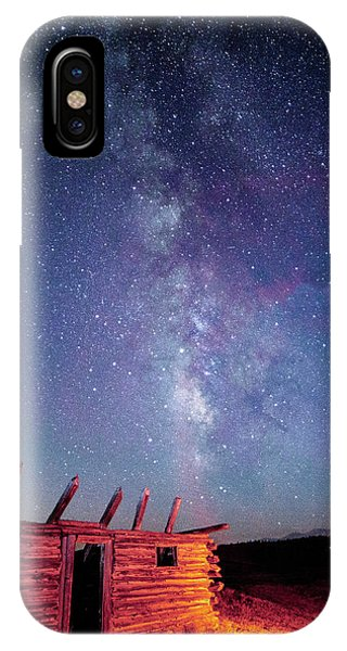 Milky Way Spilling Down On Cabin IPhone Case