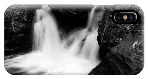 IPhone Case featuring the photograph Mill Falls Monochrome by Wayne King