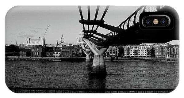 IPhone Case featuring the photograph Millennium Bridge  by Edward Lee
