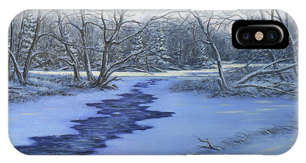 Millhaven Creek In Winter IPhone Case