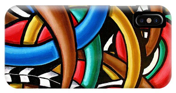 Colorful Abstract Art Painting Chromatic Intuitive Energy Art - Ai P. Nilson IPhone Case