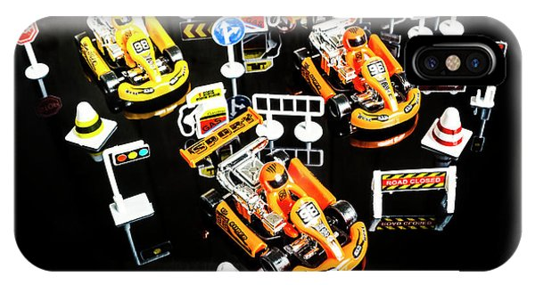 Stop Action iPhone Case - Miniature Motorsports by Jorgo Photography - Wall Art Gallery