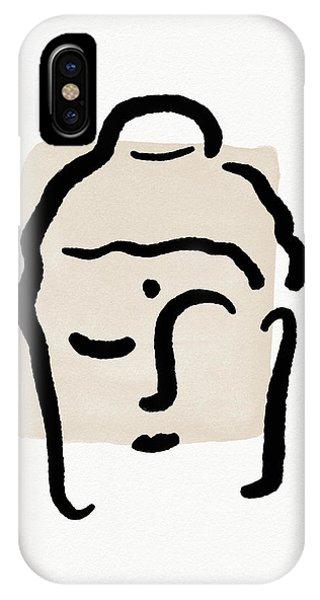 Zen iPhone Case - Minimal Buddha 4- Art By Linda Woods by Linda Woods