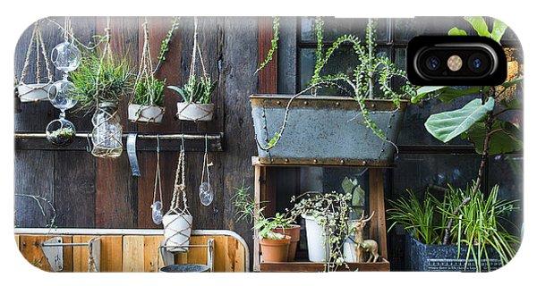 Garden Wall iPhone Case - Minimal Garden by Deardiz