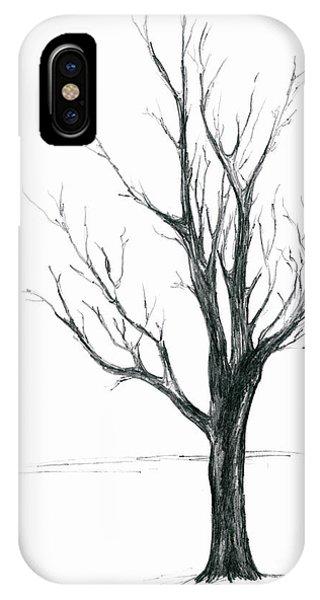 Minimal Winter Maple Tree IPhone Case