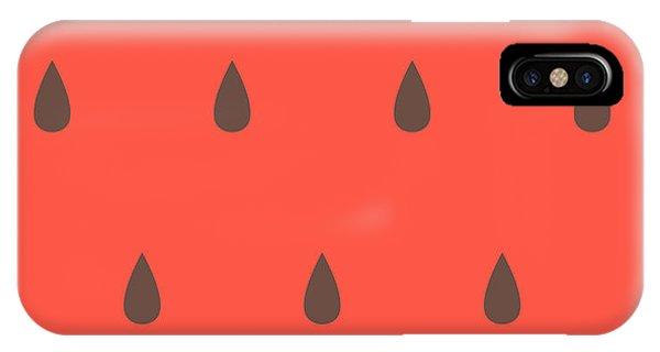 Vector Graphics iPhone Case - Minimalist Style Seamless Watermelon by Iveta Angelova