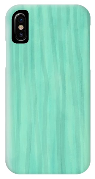 Mint Green Lines IPhone Case