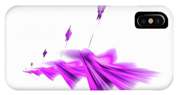 Missile Command Purple IPhone Case